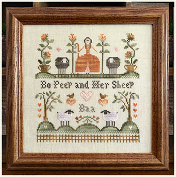 Little House Needleworks - Bo Peep And Her Sheep-Little House Needleworks - Bo Peep And Her Sheep, children, poem, cross stitch