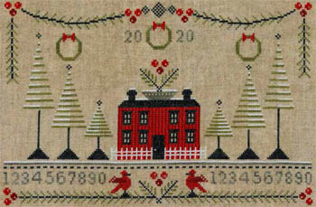 Artful Offerings - Cranberry Christmas Sampler-Artful Offerings - Cranberry Christmas Sampler, Christmas, home, cross stitch, family, 2020