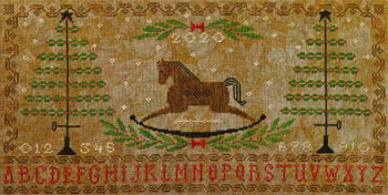 Artful Offerings - Rocking Horse Holiday Sampler-Artful Offerings - Rocking Horse Holiday Sampler, Christmas, Christmas trees, decoration, cross stitch