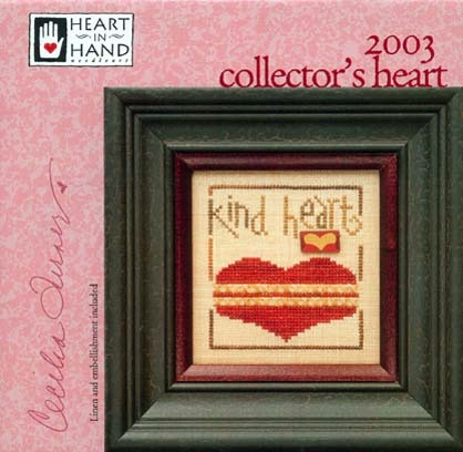 Heart in Hand Needleart - 2003 Collector's Heart Kit-Heart in Hand Needleart - 2003 Collectors Heart Kit , love, cross stitch, kind heart,