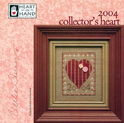 Heart in Hand Needleart - 2004 Collector's Heart-Heart in Hand Needleart - 2004 Collectors Heart, love, romance, cross stitch kit,