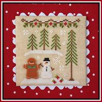 Country Cottage Needleworks - Gingerbread Village - Part 07 - Gingerbread Boy & Snowman-Country Cottage Needleworks - Gingerbread Village - Part 07 - Gingerbread Boy  Snowman, cross stitch, snow, winter, house,