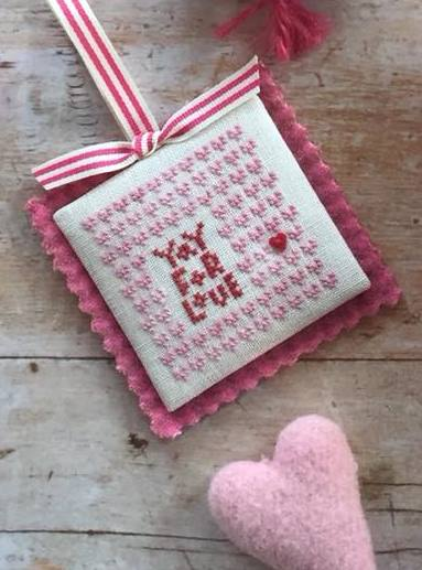 Heart in Hand Needleart - Merrymaking Mini - Yay for Love!-Heart in Hand Needleart - Merrymaking Mini - Yay for Love, Valentines Day, hearts, cross stitch
