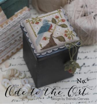 With Thy Needle & Thread - Ode to the Ort No. 2 - Nashville Exclusive-With Thy Needle  Thread - Ode to the Ort No. 2 , blue bird, strawberry emery, cross stitch, orts,