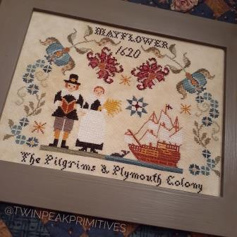 Twin Peak Primitives - Pilgrims of Plymouth-Twin Peak Primitives - Pilgrims of Plymouth, Mayflower, 1620, Plymouth County, Thanksgiving, Coming to America, cross stitch