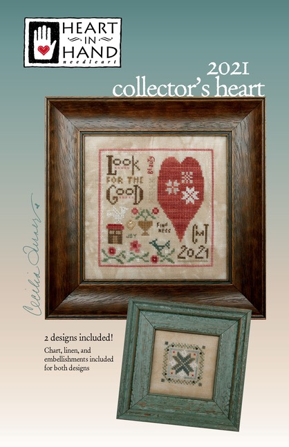 Heart in Hand Needleart - 2021 Collector's Heart Kit-Heart in Hand Needleart - 2021 Collectors Heart Kit, love, cross stitch, good, quaker, be kind, compassion, kit
