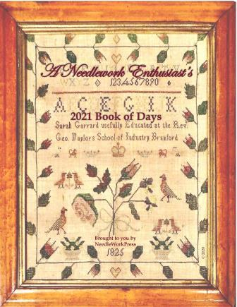 NeedleWorkPress - 2021 Needlework Enthusiast's Book of Days-NeedleWorkPress - 2021 Needlework Enthusiasts Book of Days, calendar, monthly, appointments, samplers, cross stitch