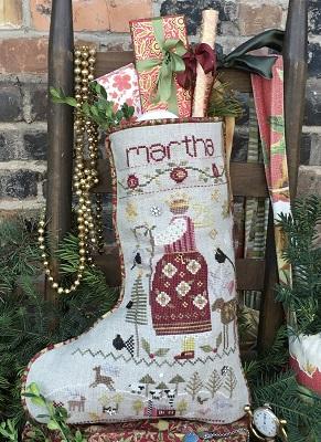 Shepherd's Bush - Stockings - Martha's Stocking-Shepherds Bush - Stockings - Marthas Stocking, girl, Christmas stocking, gifts, reindeer, Christmas, cross stitch