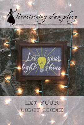 Heartstring Samplery - Let Your Light Shine-Heartstring Samplery - Let Your Light Shine, for God, example, cross stitch