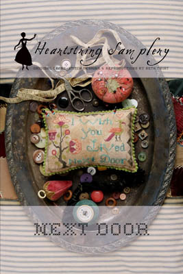 Heartstring Samplery - Next Door-Heartstring Samplery - Next Door, BFF, best friends, girl friends, cross stitch, pin cushion