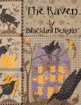 Blackbird Designs - Raven (The) - Applique-Blackbird Designs - Raven The - Applique, birds, fall, blankets, sewing, quilt,