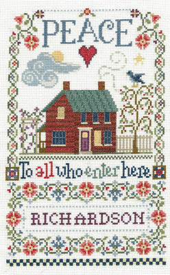Imaginating - Peace To All Sampler-Imaginating - Peace To All Sampler, home, blessings, peaceful, prayers, cross stitch