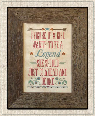 Little House Needleworks - Legendary Girls-Little House Needleworks - Legendary Girls, positive, role model, cross stitch