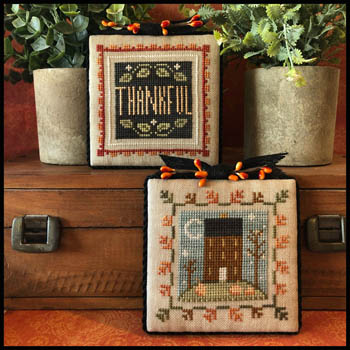 Little House Needleworks - Fall is in the Air - Part 1-Little House Needleworks - Fall is in the Air - Part 1, autumn, pumpkin, home, grateful, thankful, cross stitch