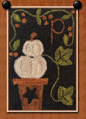 Little House Needleworks - P is for Pumpkin - Punch Needle-Little House Needleworks - P is for Pumpkin - Punch Needle, pumpkin, fall, plants,