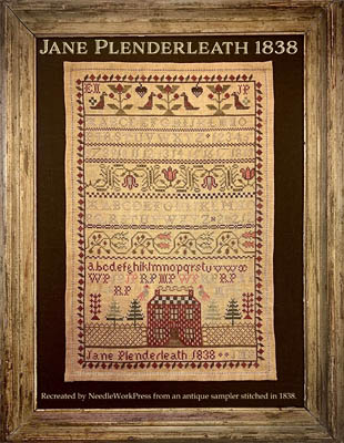 NeedleWorkPress - Jane Plenderleath 1838-NeedleWorkPress - Jane Plenderleath 1838, sampler, stitching bands, historic, cross stitch