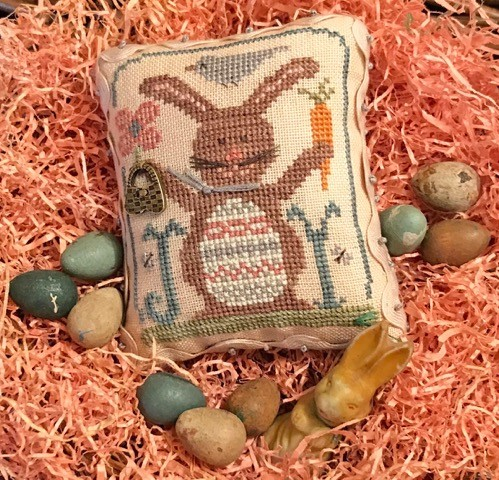 Homespun Elegance - Country Spirits Collection - Bunny Joy-Homespun Elegance - Country Spirits Collection - Bunny Joy, rabbit, Easter, carrots, cross stitch, spring,