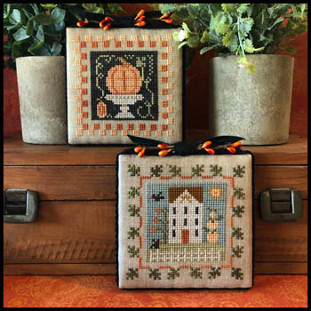 Little House Needleworks - Fall Is In The Air - Part 2-Little House Needleworks - Fall Is In The Air - Part 2, pumpkin, fall, autumn, home, decorations, leaves, cross stitch