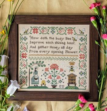 Lila's Studio - Busy Bee-Lilas Studio - Busy Bee, bees, honey, beehive, sampler, cross stitch
