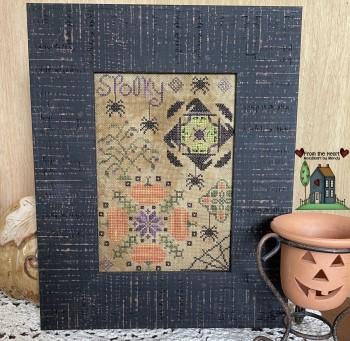 From the Heart - Needleart by Wendy - Spooky Quaker-From the Heart - Needleart by Wendy - Spooky Quaker, Halloween, spiders, pumpkins, spider webs, cross stitch