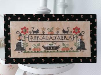 Tralala - Abracadabra-Tralala - Abracadabra, witches, Halloween, pumpkins, fall, black cats, spells, sunflowers, cross stitch
