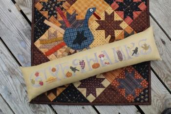 Thistles - Give Thanks-Thistles - Give Thanks, Thanksgiving, pumpkin, crow, pumpkin pie, leaves, berries, family, fall, cross stitch