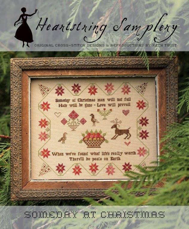 Heartstring Samplery - Someday at Christmas-Heartstring Samplery - Someday at Christmas, peace, love, God, meaning of Christmas, cross stitch