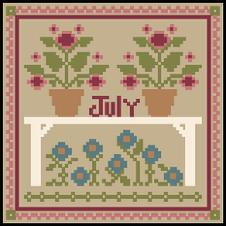 Little House Needleworks - Sampler Months - July & August Thread Packs-Little House Needleworks - Sampler Months - July  August Thread Packs, flowers, 4th of july, sailboat, summer, cross stitch,