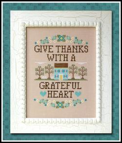 Country Cottage Needleworks - Give Thanks-Country Cottage Needleworks - Give Thanks, Thanksgiving, prayers, gratitude, thankful, grateful, family,