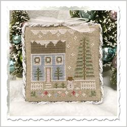 Country Cottage Needleworks - Glitter Village - Glitter House 1-Country Cottage Needleworks - Glitter Village - Glitter House 1, Christmas, snow, houses, cross stitch