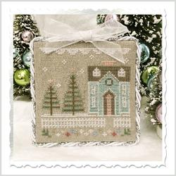 Country Cottage Needleworks - Glitter Village - Glitter House 3-Country Cottage Needleworks - Glitter Village - Glitter House 3, winter, snow, cross stitch