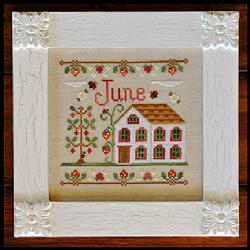 Country Cottage Needleworks - Cottage of the Month 06 - June Cottage - Cross Stitch Pattern