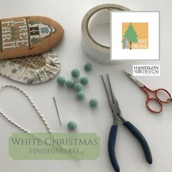 Hands On Design - White Christmas  Finishing Kit-Hands On Design - White Christmas  Finishing Kit, felt balls, ornaments, Christmas, cross stitch