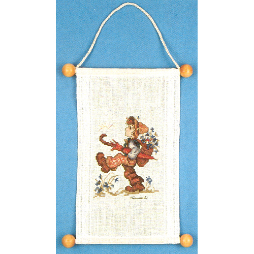 M.I. Hummel - Globetrotter Banner - Counted Cross Stitch Kit-M.I. Hummel, The Globetrotter Banner, Counted Cross Stitch Kit