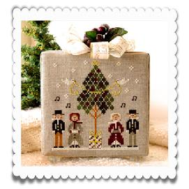 Little House Needleworks - Hometown Holiday - Caroling Quartet-Little House Needleworks, Hometown Holiday,Caroling Quartet, Christmas caroling, winter snow,Cross Stitch Pattern