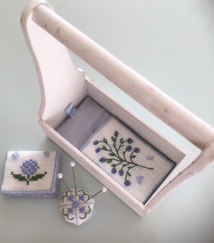 Fern Ridge - Garden Blues-Fern Ridge - Garden Blues, tray, flowers, nashville, cross stitch