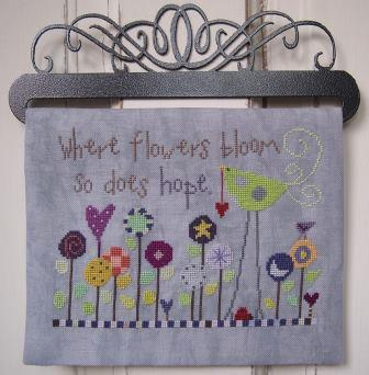 SamSarah Design Studio - Hope Blooms-SamSarah Design Studio - Hope Blooms, flowers, birds, love, nashville, cross stitch
