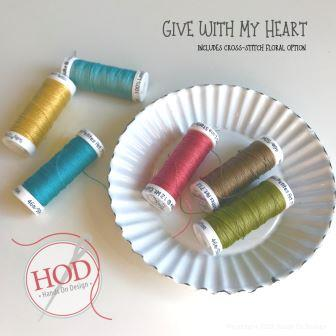 Sulky Thread - 12 wt Cotton Petites Pack for Hands On Design - Give With My Heart-Sulky Thread - 12 wt Cotton Petites Pack for Hands On Design - Give With My Heart, thread, cross stitch