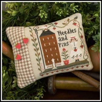 Little House Needleworks - Keeper of the Pins-Little House Needleworks - Keeper of the Pins, home, girl, pin cushion, cross stitch