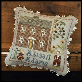 Little House Needleworks - Early Americans - Part 7 - Abigail Adams-Little House Needleworks - Early Americans - Part 7 - Abigail Adams, historic, patriotic, cross stitch, houses,