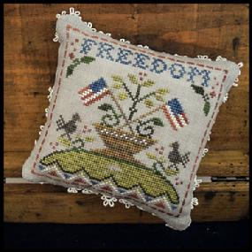 Little House Needleworks - The Early Americans - Part 5 - Freedom-Little House Needleworks - The Early Americans - Part 5 - Freedom, patriotic, America, cross stitch