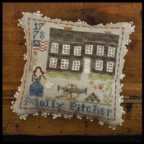 Little House Needleworks - Early AmericanS - Part 9 - Molly Pitcher-Little House Needleworks - Early AmericanS - Part 9 - Molly Pitcher, historic, cross stitch,
