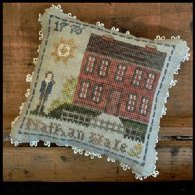 Little House Needleworks - Early Americans - Part 4 - Nathan Hale-Little House Needleworks - Early Americans - Part 4 - Nathan, Hale, historic, patriot, american spy, cross stitch
