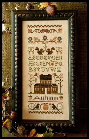 Little House Needleworks - Autumn Band Sampler-Little House Needleworks - Autumn Band Sampler - Cross Stitch Pattern