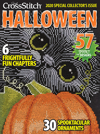Just Cross Stitch - 2020 Special Collector's Halloween Ornament Special Issue-Just Cross Stitch - 2020 Special Collectors Halloween Ornament Special Issue