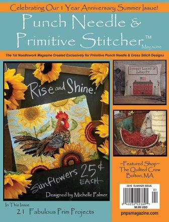 Punch Needle & Primitive Stitcher Magazine 2016 - Issue # 3 - Summer