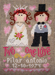 Barbara Ana Designs - Two Hearts, One Love-Barbara Ana Designs - Two Hearts, One Love - Cross Stitch Chart