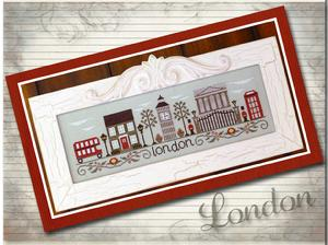 Country Cottage Needleworks - Afternoon in London-Country Cottage Needleworks - Afternoon in London, city, England, Big Ben, cross stitch,