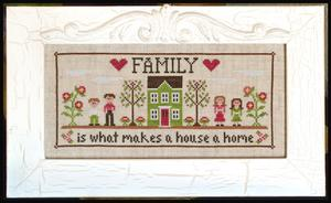 Country Cottage Needleworks - Family Home-Country Cottage Needleworks - Family Home, love, mom, dad, brother, sister, dog, cat, baby, family tree,