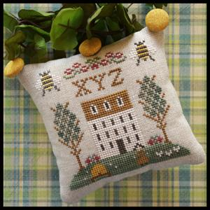 Little House Needleworks - ABC Samplers - XYZ-Little House Needleworks, ABC Samplers, XYZ, samplers, alphabet, houses, historic, sheep, pin cushions, pillows, cross stitch